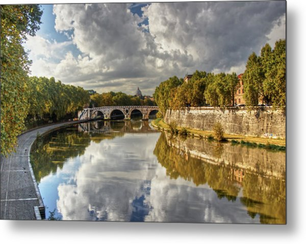 Tiber Morning Metal Print