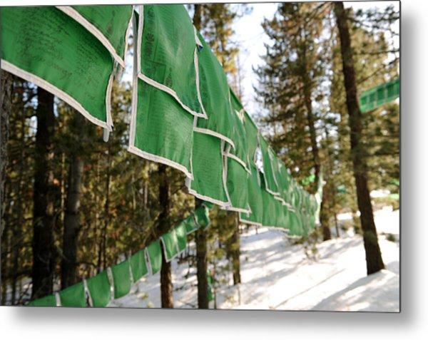 Tibetan Prayer Flags Metal Print by Jessica Rose