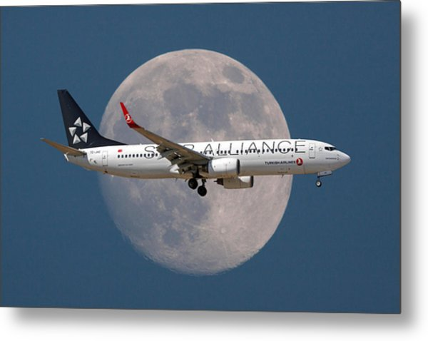 Ticket To The Moon Metal Print