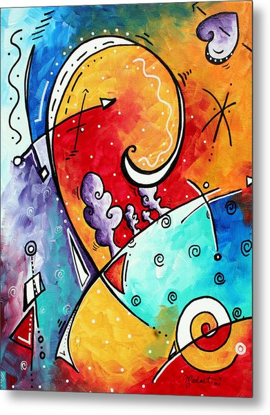 Tickle My Fancy Original Whimsical Painting Metal Print