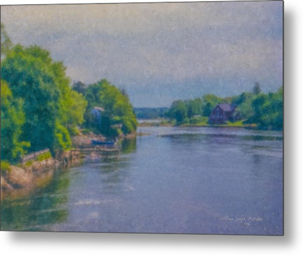 Tidal Inlet In Southern Maine Metal Print