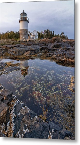 Tide Pools At Marshall Point Lighthouse Metal Print