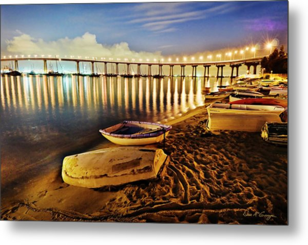Tidelands Taxis Metal Print