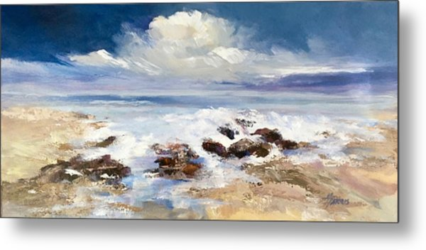 Metal Print featuring the painting Tidepool by Helen Harris