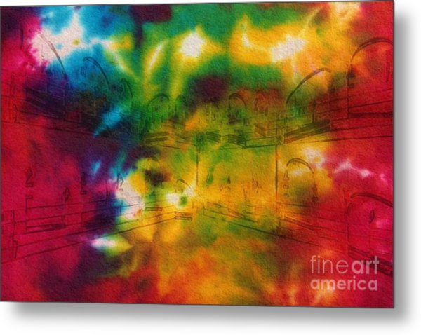 Tie-dyed Intermezzo Dream Metal Print