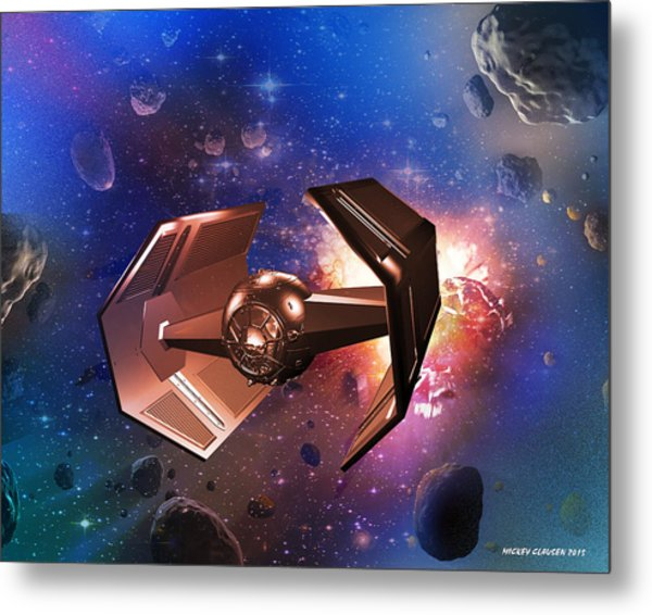 Tie-fighter Metal Print