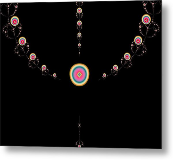 Tiered Necklace Metal Print by Thomas Smith