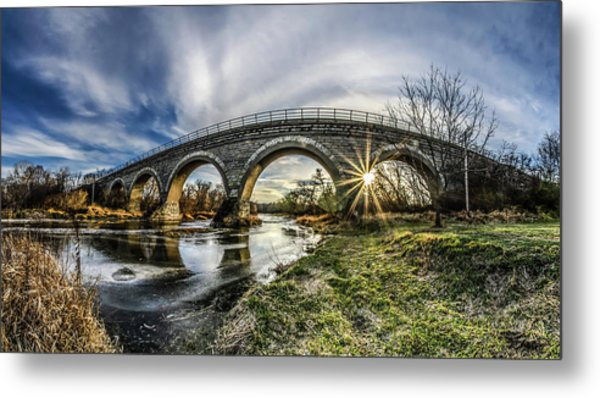 Tiffany Bridge Panorama Metal Print