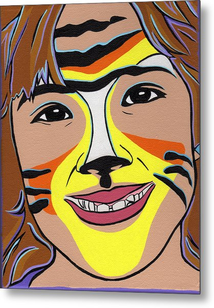 Tiger Girl Metal Print by Lucia  Perez