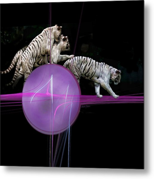 Tiger Tag Metal Print