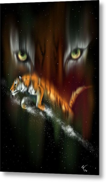 Tiger, Tiger Burning Bright Metal Print