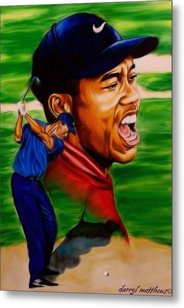 Tiger Woods. Metal Print