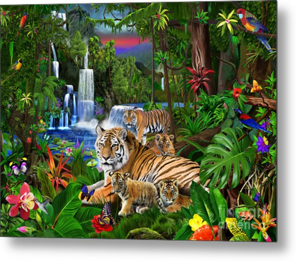 Tigers Of The Forest Metal Print