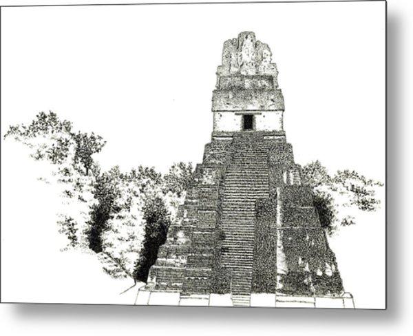 Tikal Temple I Metal Print
