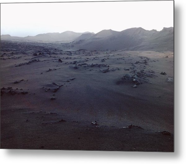 Metal Print featuring the photograph Timanfaya National Park by Martina Uras