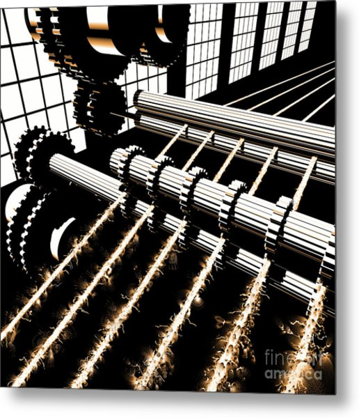 Metal Print featuring the digital art Time Aerials Industrial Revolutions by Russell Kightley