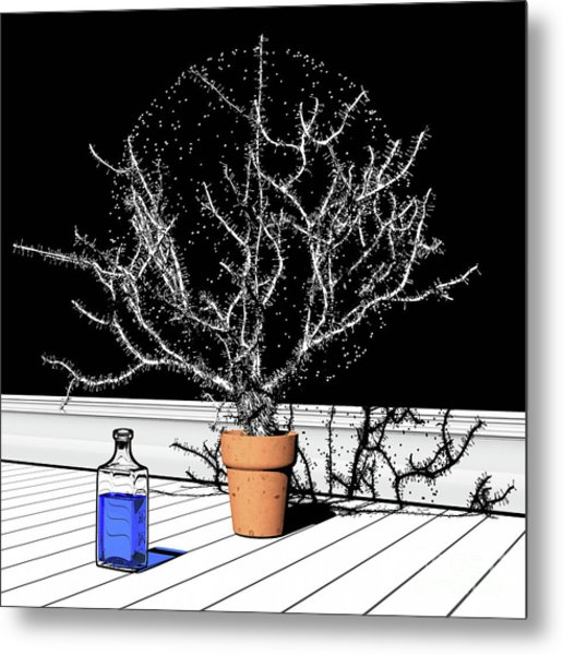 Metal Print featuring the digital art Time Aerials Time Aerials In A Pot by Russell Kightley