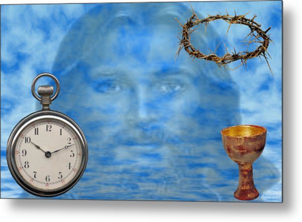 Time Is Ticking Metal Print by Evelyn Patrick