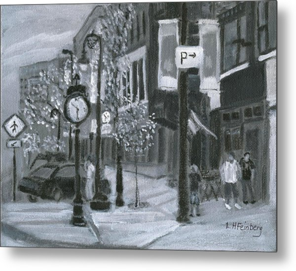 Metal Print featuring the painting Time? by Linda Feinberg