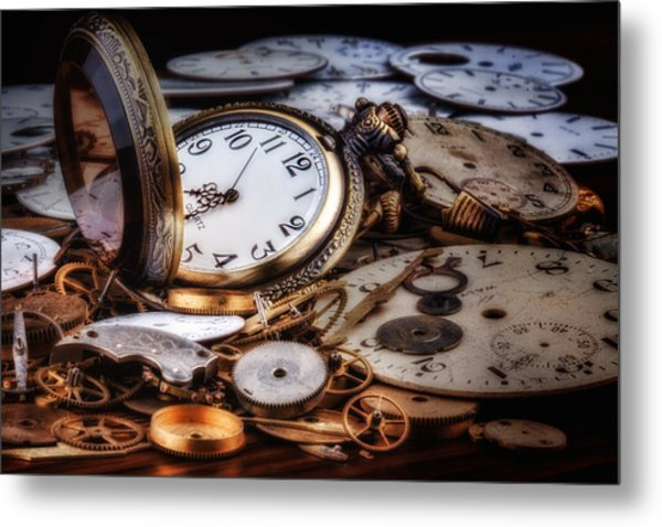 Time Machine Still Life Metal Print