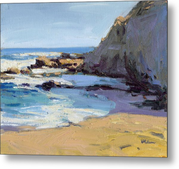Metal Print featuring the painting Time To Relax  by Konnie Kim