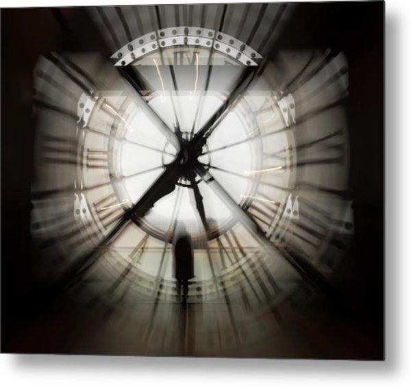 Time Waits For None Metal Print