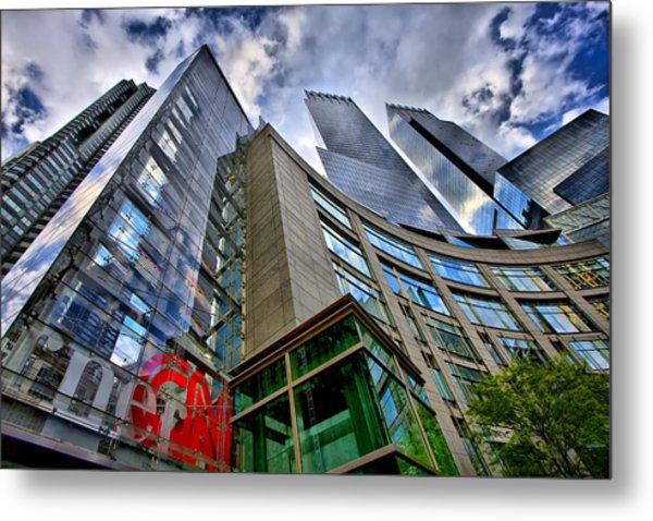 Time Warner Buildings At Columbus Circle Metal Print