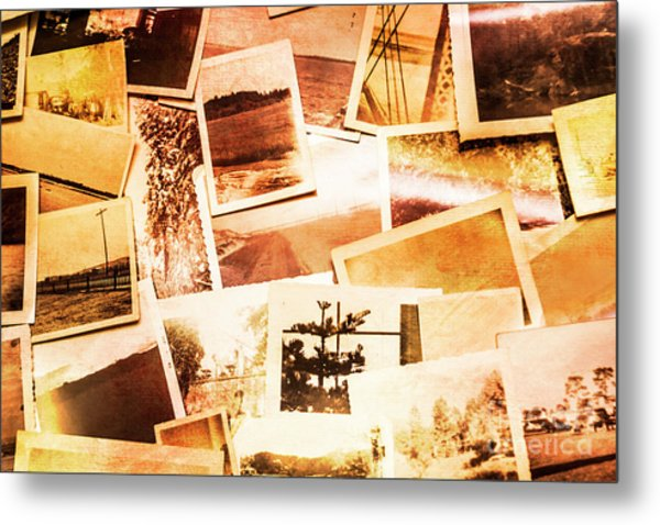 Time Worn Scenes And Places Background Metal Print