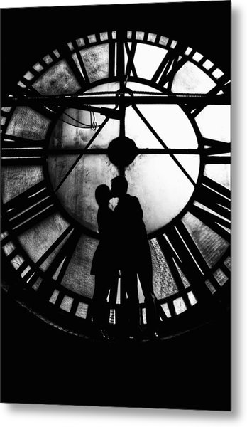 Timeless Love - Black And White Metal Print