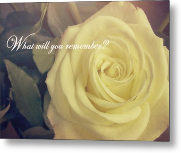 Timeless Quote Metal Print by JAMART Photography