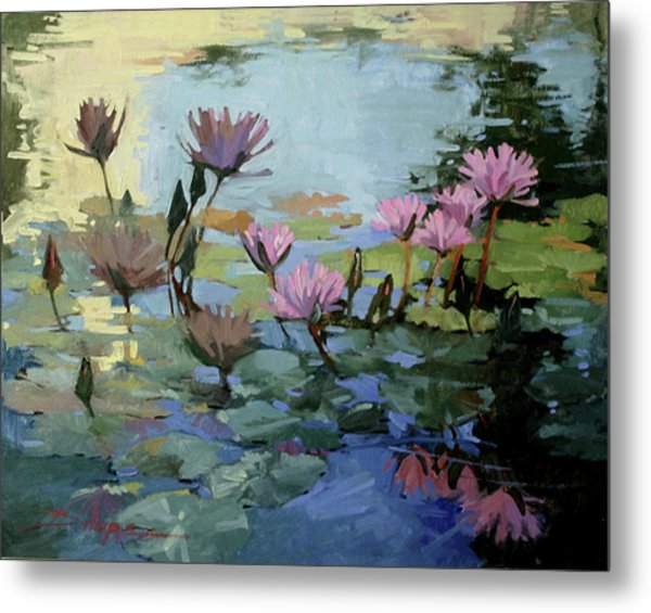 Times Between - Water Lilies Metal Print