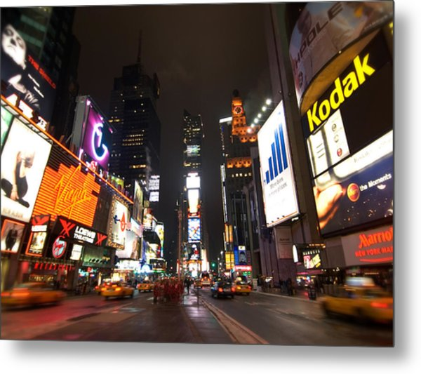 Times Square Metal Print by John Gusky