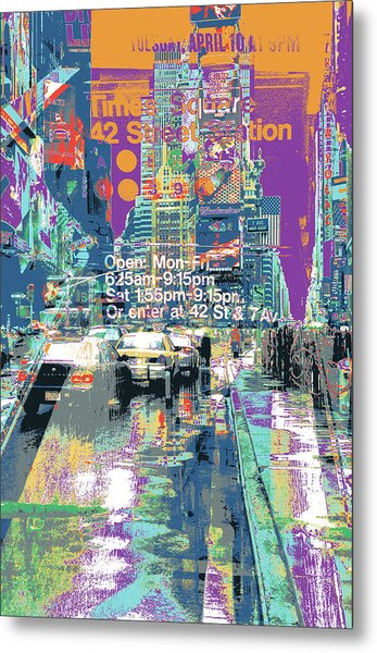 Times Square Morphine Metal Print by Shay Culligan