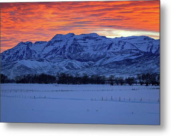 Timpanogos Burner Metal Print by Johnny Adolphson