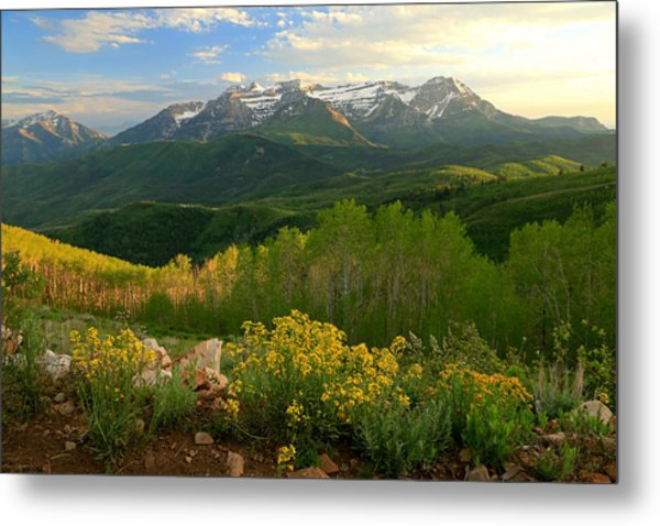 Timpanogos From Mill Canyon Peak. Metal Print by Johnny Adolphson