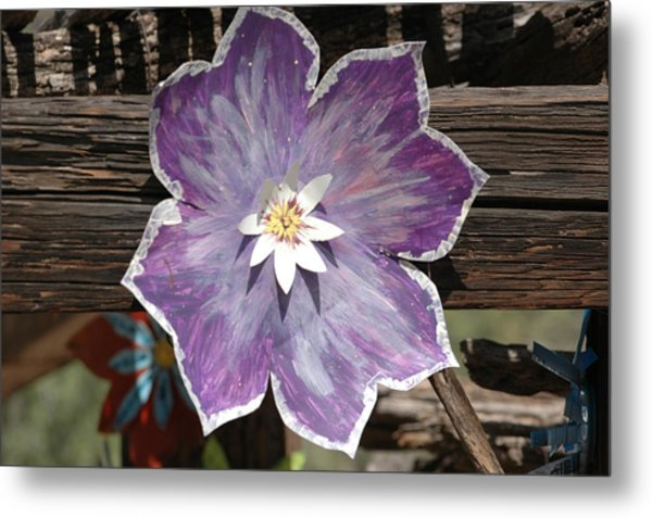Tin Flower Metal Print