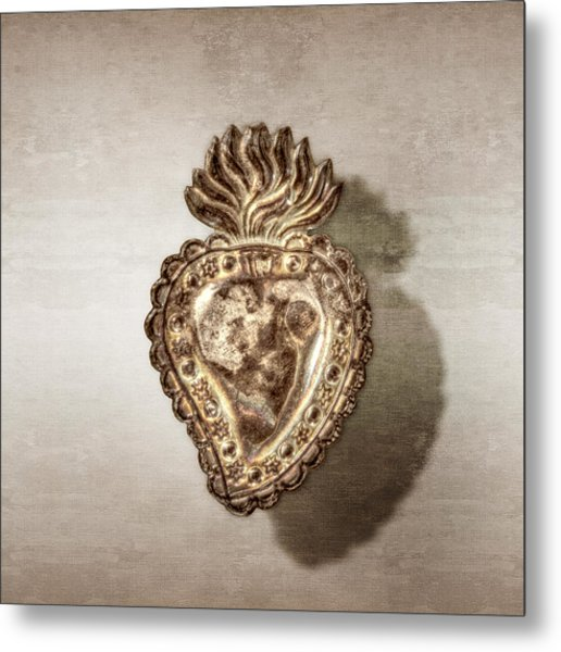 Tin Heart Metal Print