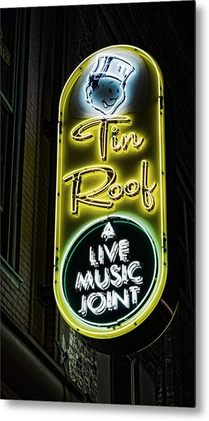 Tin Roof - Gritty Metal Print