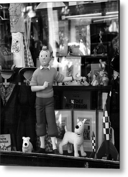 Tintin 1b Metal Print