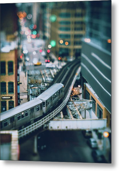 Tiny Chicago Metal Print