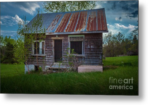 Tiny Farmhouse Metal Print
