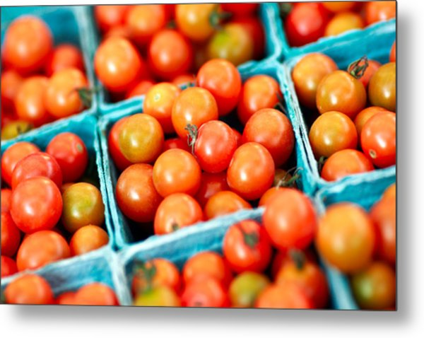 Tiny Little Red Tomatoes Metal Print