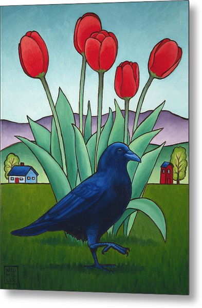 Tip Toe Through The Tulips Metal Print