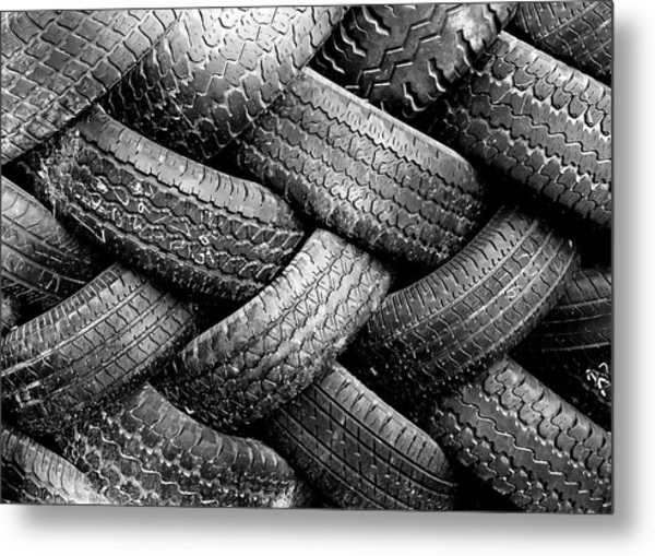 Tired Treads Metal Print