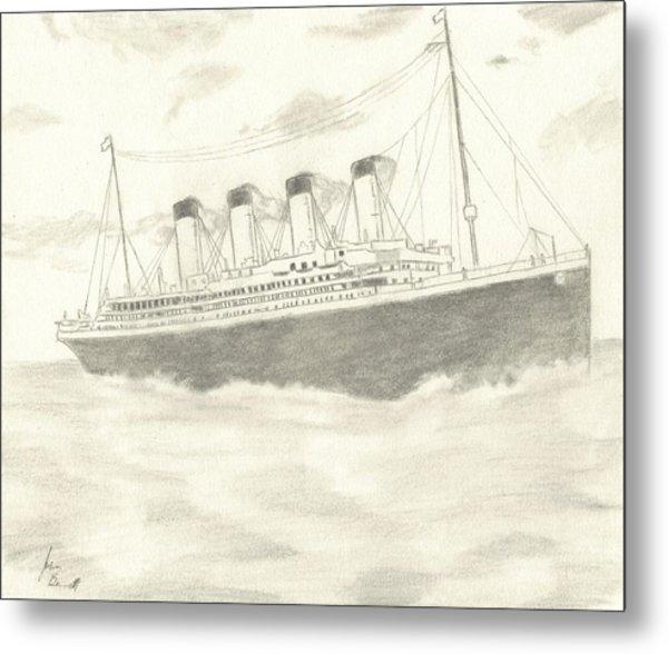 Titanic Metal Print by Josh Bennett