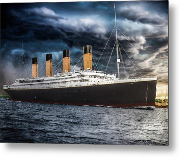 Titanic Photo Restoration Metal Print by Brent Shavnore