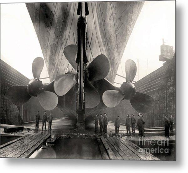 Titanic's Propellers  Metal Print