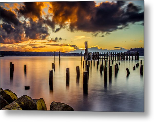 Titlow Beach Sunset Metal Print