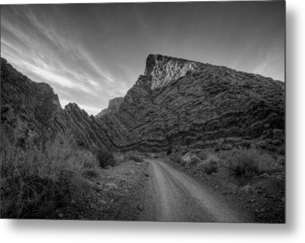 Titus Canyon Road Metal Print by Peter Tellone