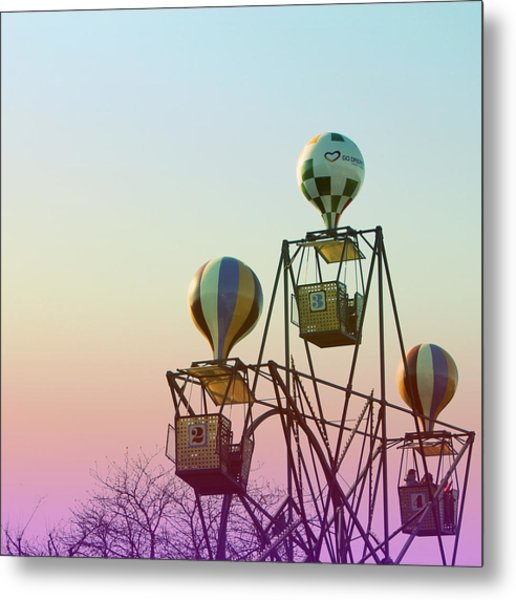 Tivoli Balloon Ride Metal Print